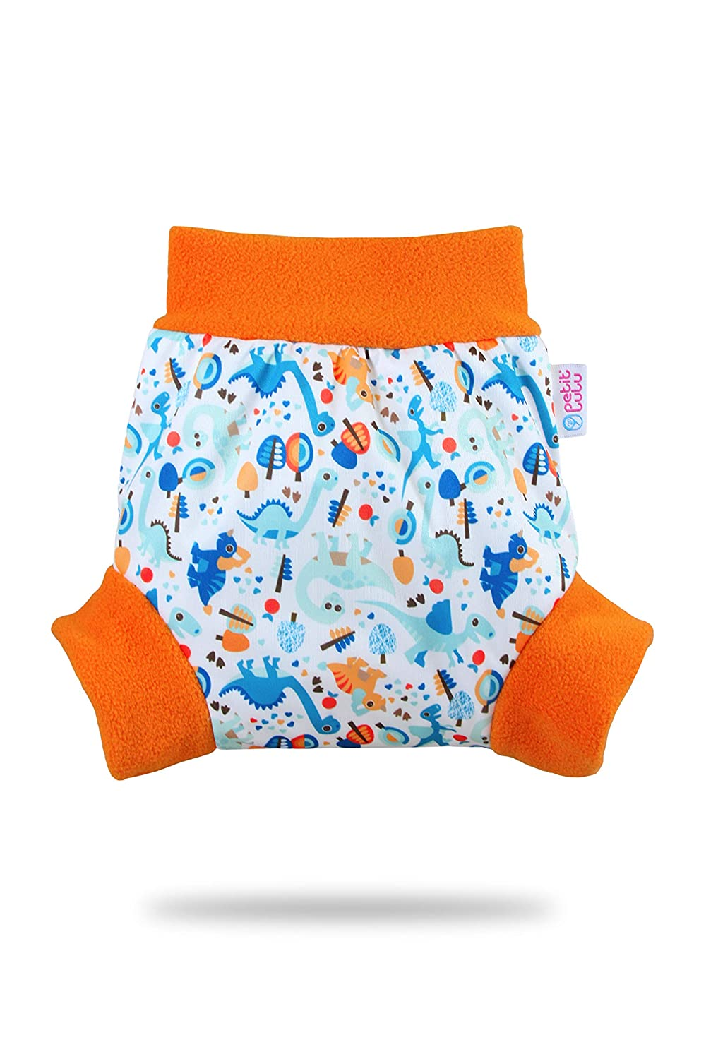 Made in Europe Sizes XS//S//M//L//XL Turquoise Birds, Size M Petit Lulu Pull Up Diaper Wrap Reusable /& Washable Waterproof Easy /& Quick Changing