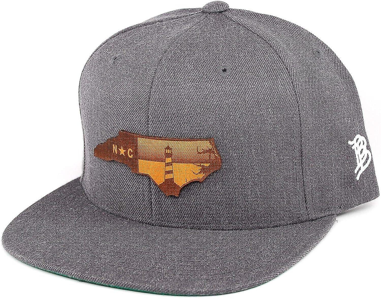 Branded Bills North Carolina The Lighthouse Leather Patch Snapback Hat OSFA//Camo