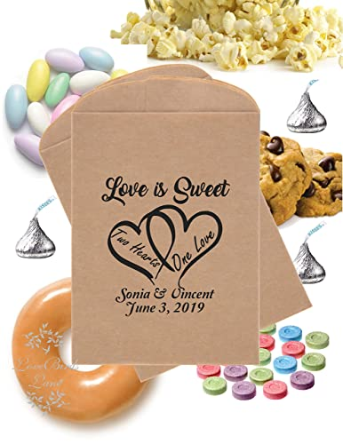 Cookie Bags Wedding Favour cotton Bags Cookie Favors  Dinner Favors  Rustic Kraft Favor Bags Wedding candy bag All you need is love