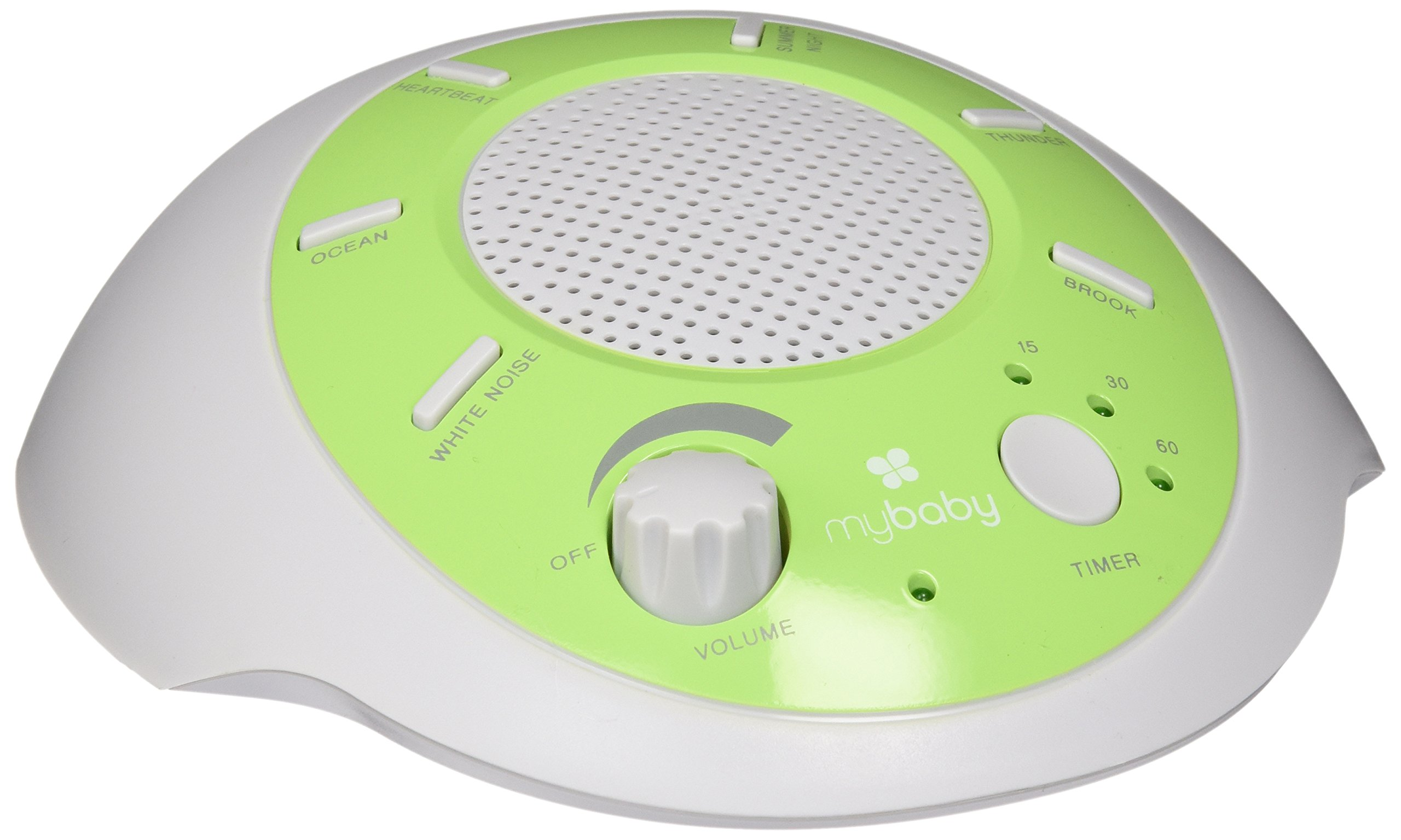 myBaby SoundSpa Portable Machine, Plays 6 Natural Sounds, Auto-Off Timer, Portable for New Mother or Traveler, Battery or Adapter Operated, MYB-S200 by HoMedics