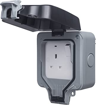 Double Pole LED BG 13 A 2-Gang Storm Weatherproof Outdoor Switched Plug Socket