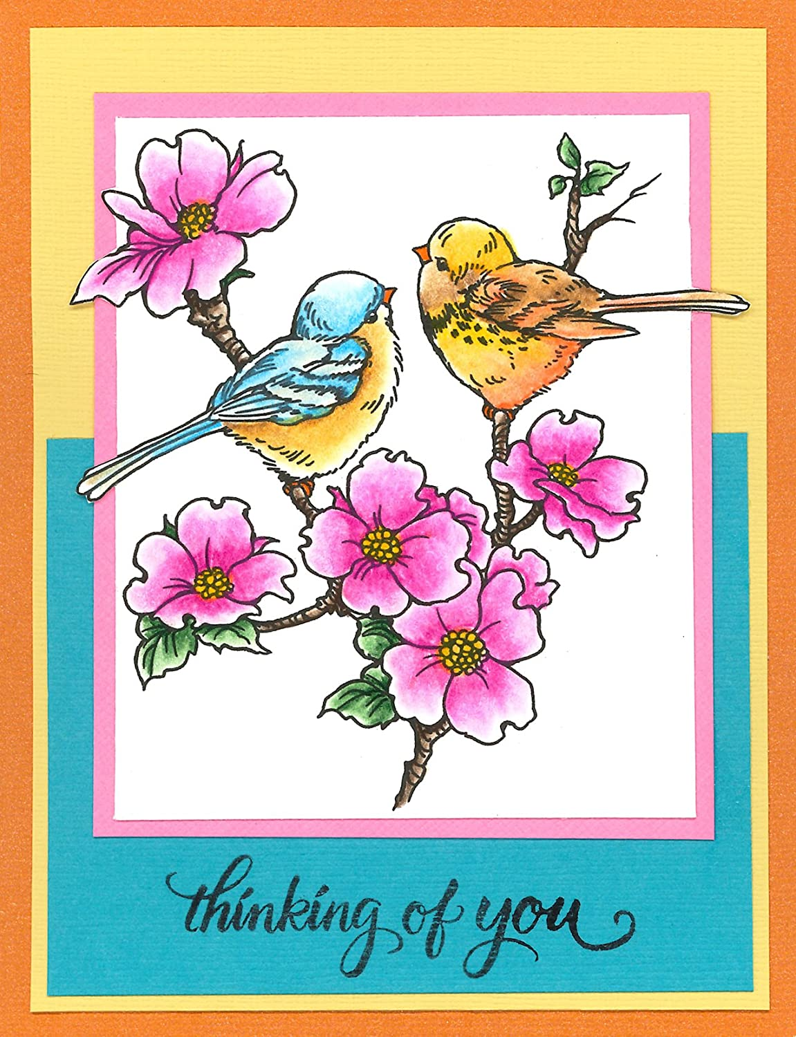 Nestled Bird Image Stampendous Cling Rubber Stamp