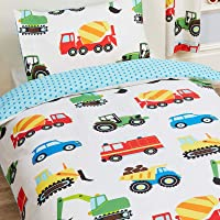 Trucks and Transport Single Duvet Cover and Pillowcase Set by PriceRightHome