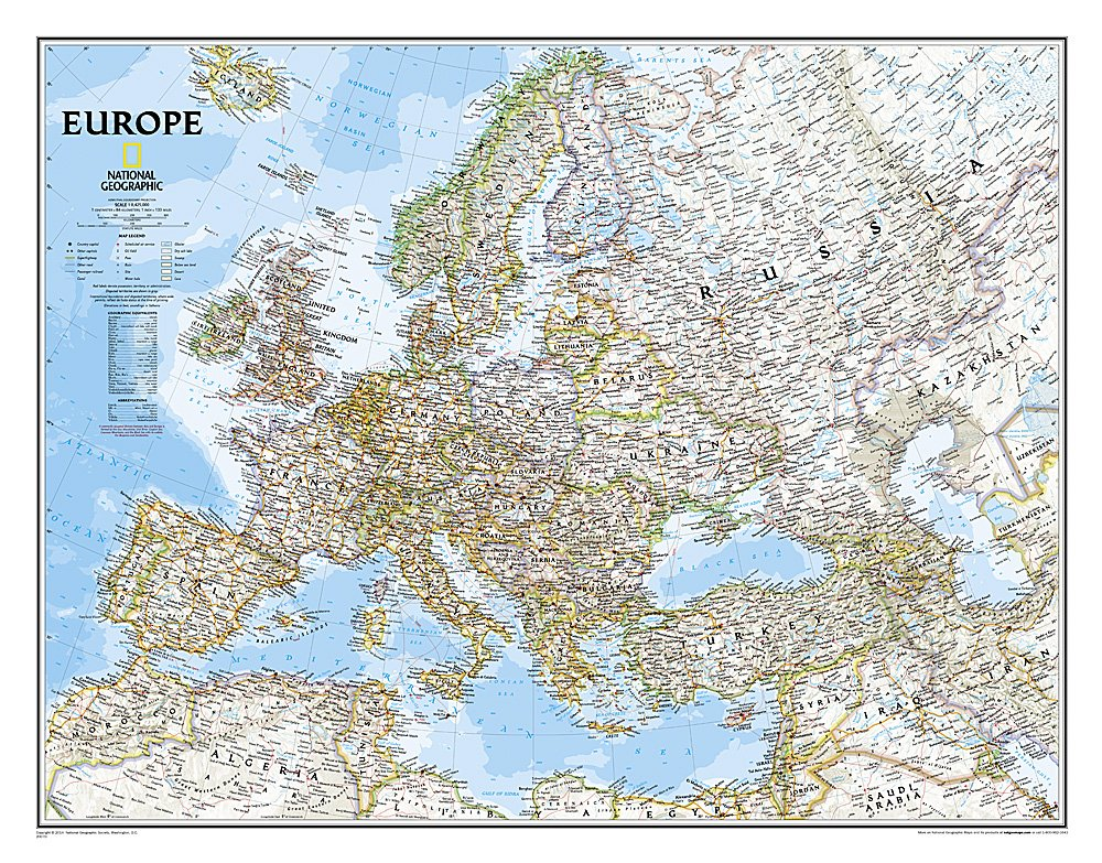 Europe Classic (Laminated) Map – Jan 1 2007 National Geographic Maps 0792250168 20147 Atlases
