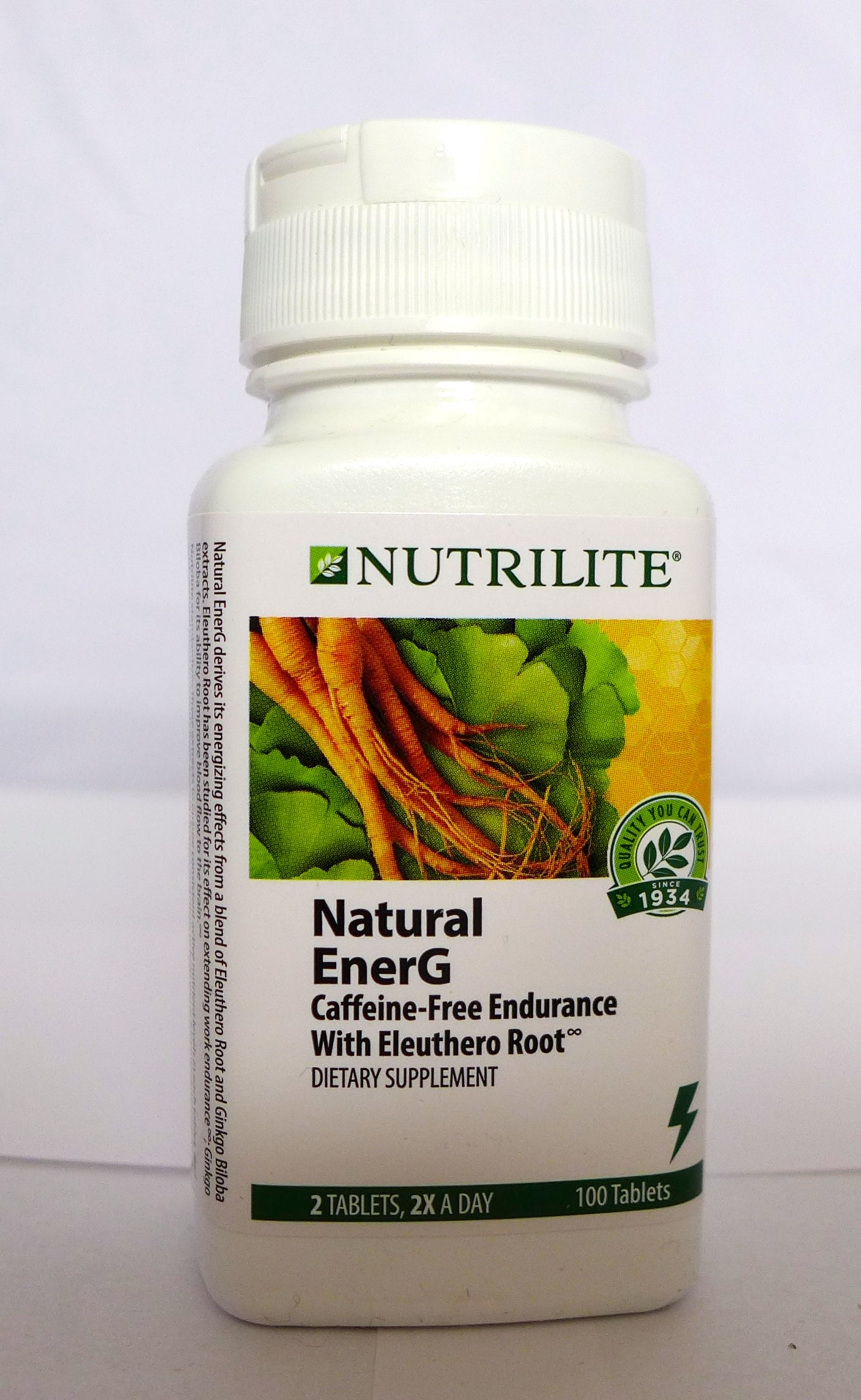 Nutrilite Natural EnerG Caffeine-free Endurance with Eleuthero Root 100 Tablets