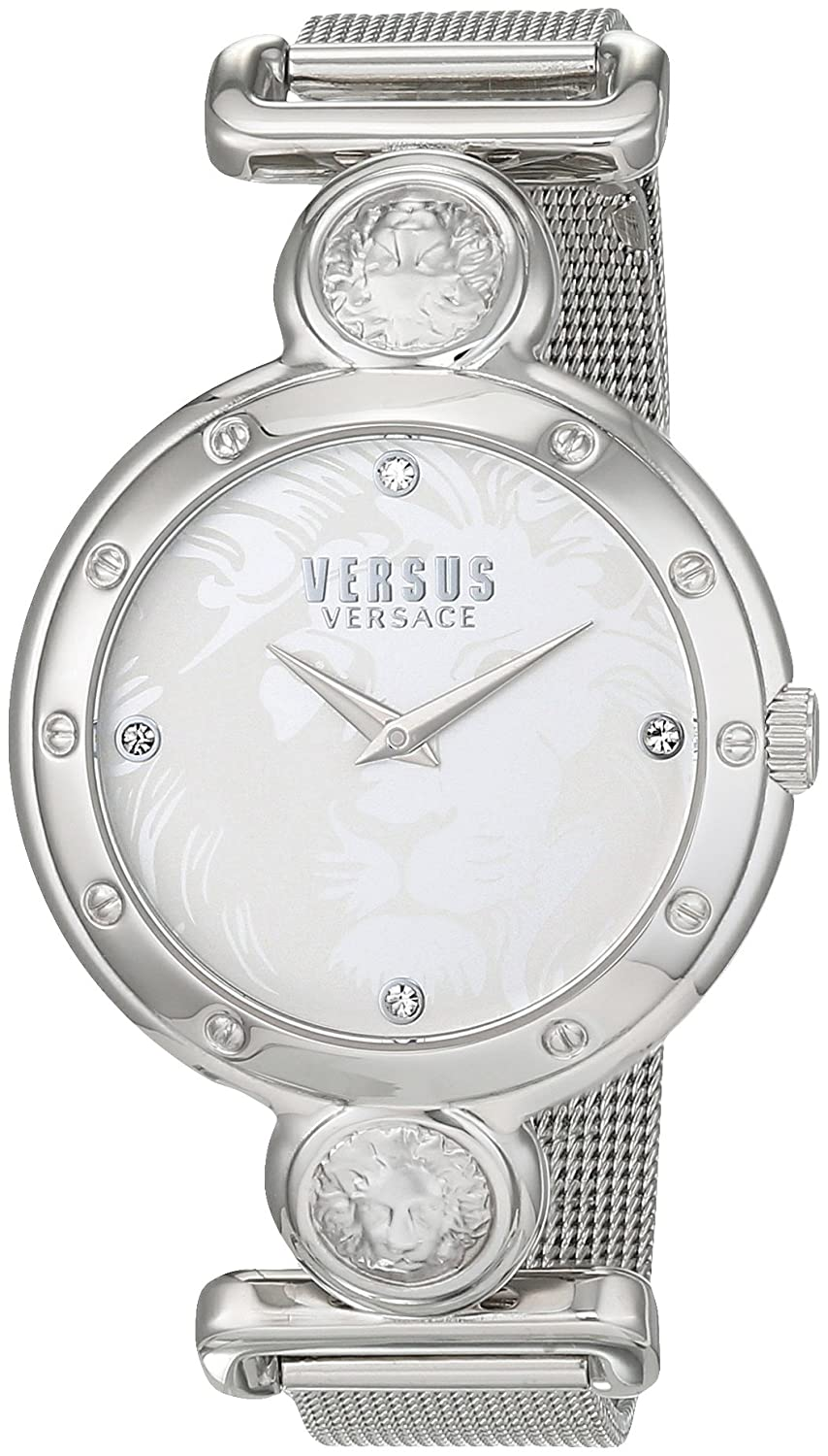 Versus by Versace Women 's Sunnyridge QuartzステンレススチールCasual Watch, Color : silver-toned (モデル: sol070016 ) B0192A2KAG