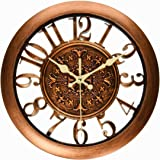 foxtop 12 inch silent non ticking large decorative wall decorative wall clock for living room Large Decorative Wall Clocks