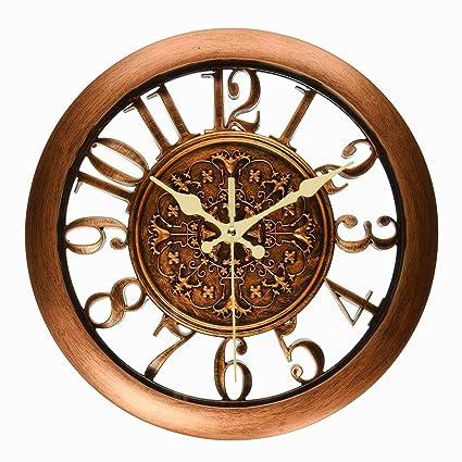 Foxtop - Reloj de pared vintage con números arábigos, 28 cm