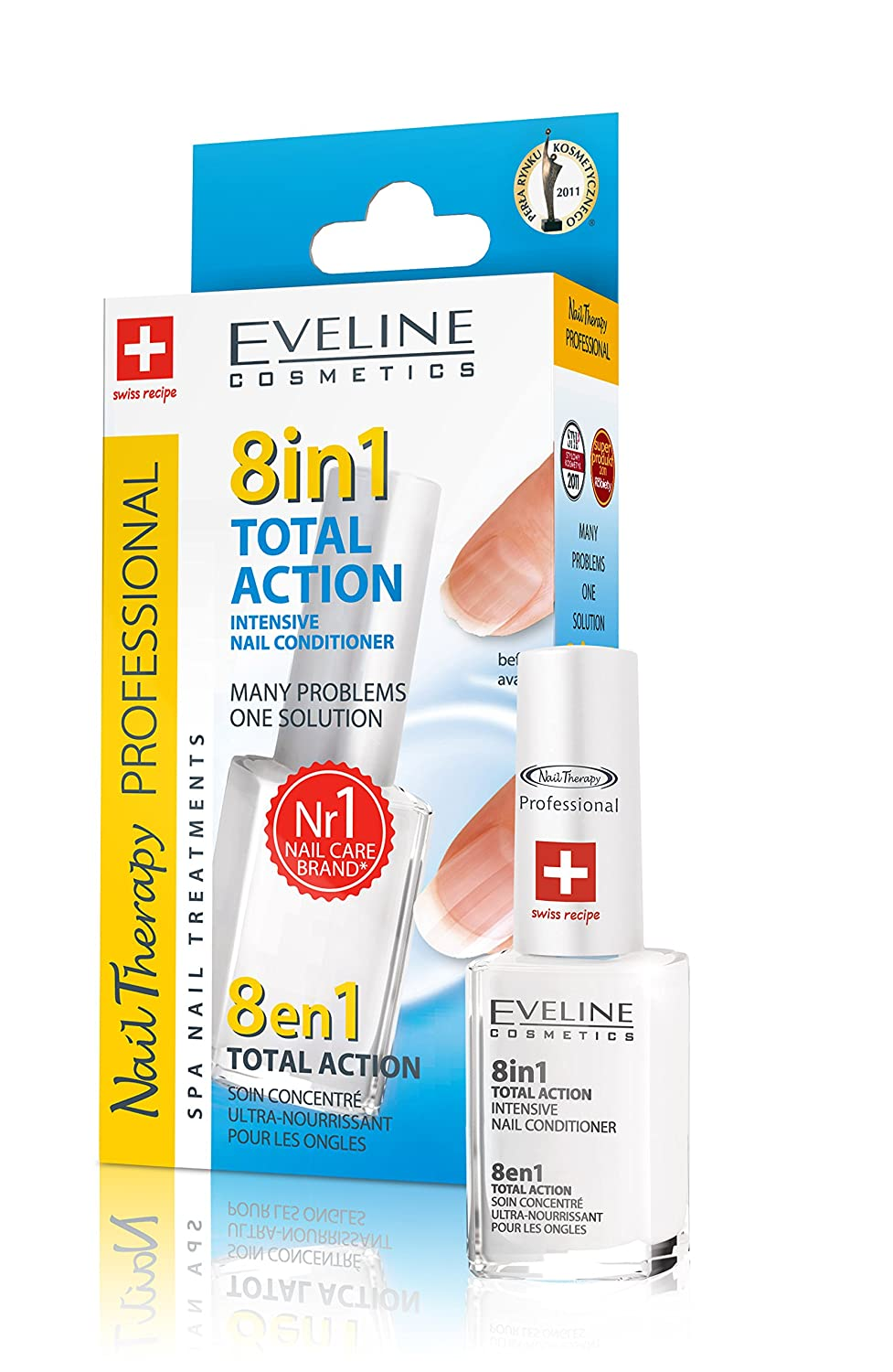 Eveline Cosmetics Total Action 8 In 1 Intensive Nail Treatment and Conditioner Moleo-Baby M00005123