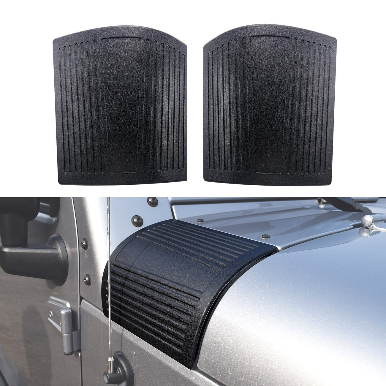 DIYTuning NEW Cowl Body Armor for Jeep Wrangler JK JKU Unlimited Rubicon Sahara X Off Road Sport Exterior Accessories Parts 2007 2008 2009 2010 2011 2012 2013 2014 2015 2016 2017 DIYMaker