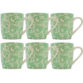 Ritzenhoff /& Breker Kaffeebecher 280ml 6er Set dunkelgrün//hellgrün