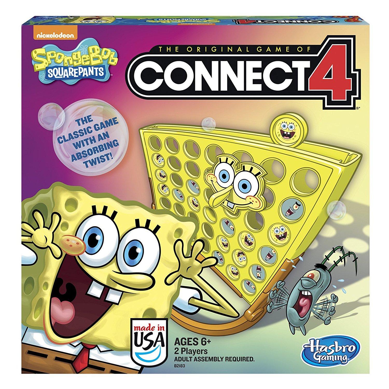 amazon com spongebob squarepants toy classic family connect 4