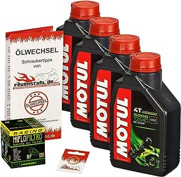 Motul 10w 40 Öl Hiflo Ölfilter Für Suzuki Gsf 1200 Bandit S Gv75a A9 Cb Ölwechselset Inkl Motoröl Racing Filter Dichtring Auto