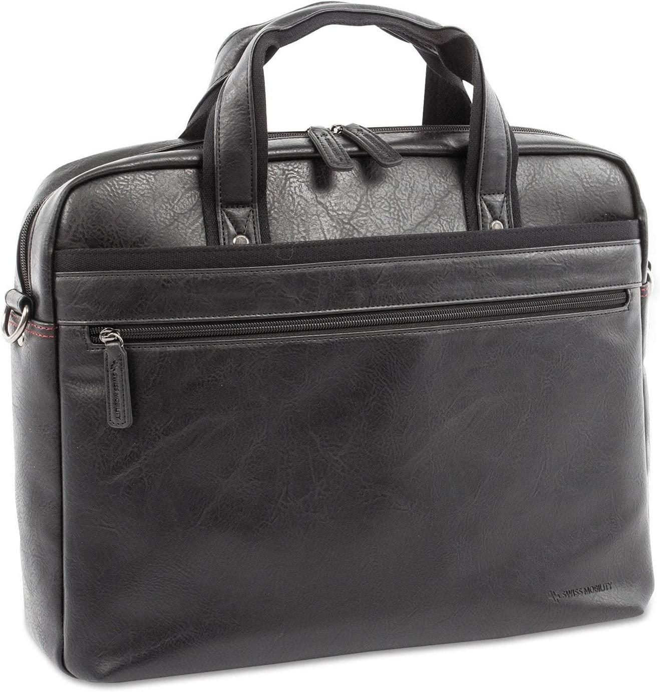 Blk Holds Laptops 15.6 Swiss Mobility Valais Executive Briefcase