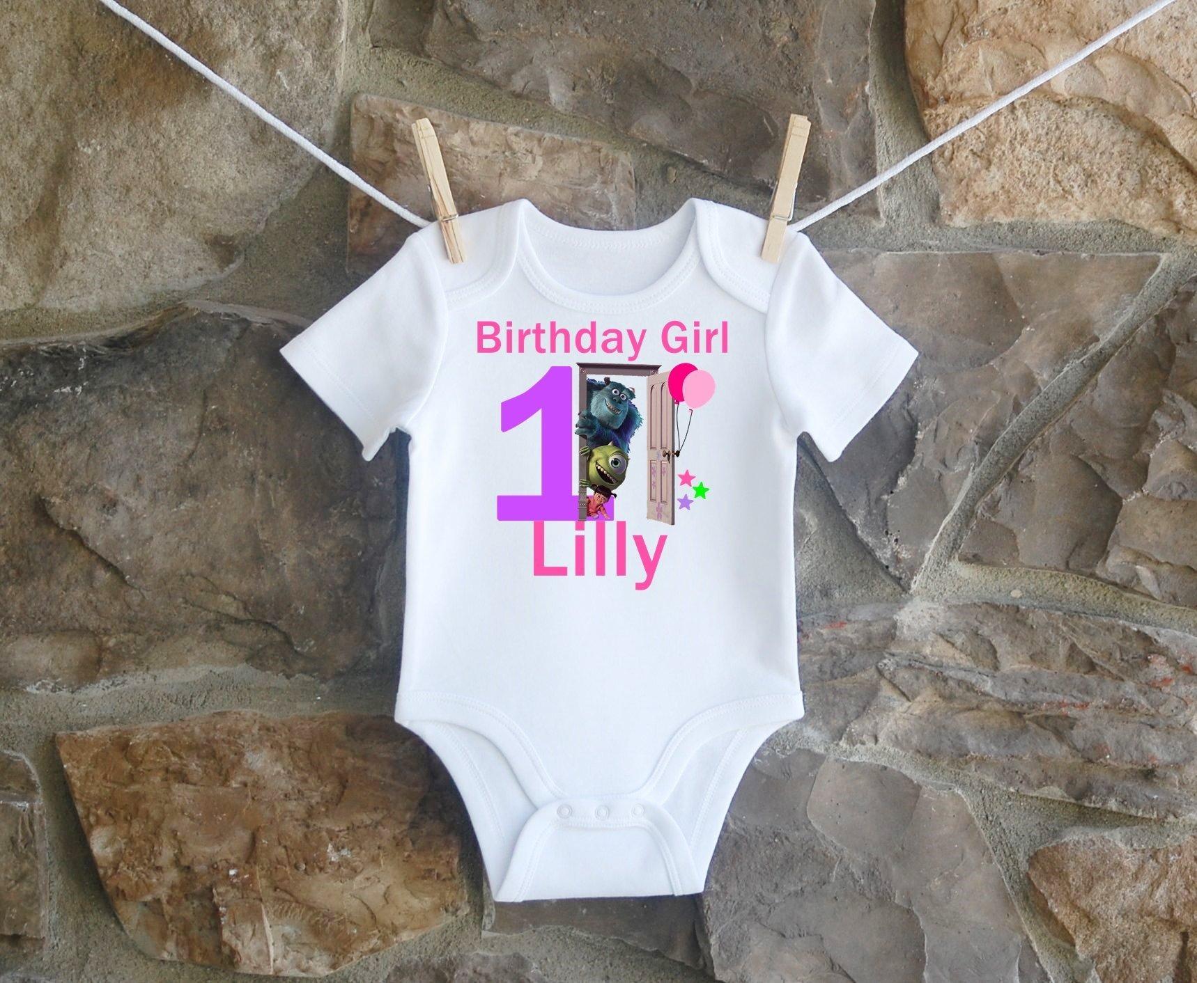 Monsters Inc. Birthday Shirt, Monsters Inc. Birthday Shirt For Girls, Personalized Girls Monsters Inc. Birthday Shirt, Customized Monsters Inc. Birthday Shirt