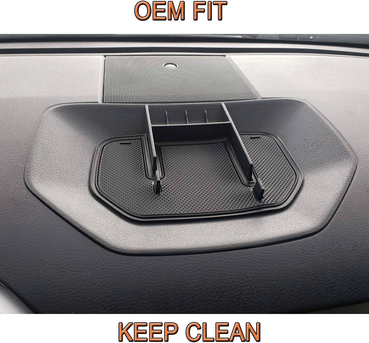 JKCOVER for Toyota Tundra Dash Center Console Table Storage Tray 2014-2019 Accessories,Multi-Function Dashboard Phone Holder Cradle ABS Black Materials Anti-Slip Backing Instrument Organizer