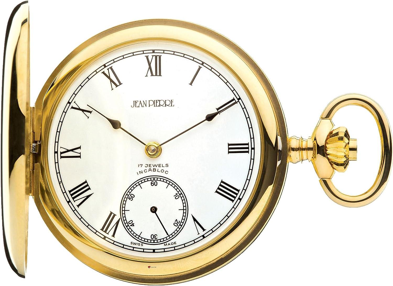 Reloj de Bolsillo de Oro 9ct Pulido Completo Hunter - 17 Movimiento Jewel
