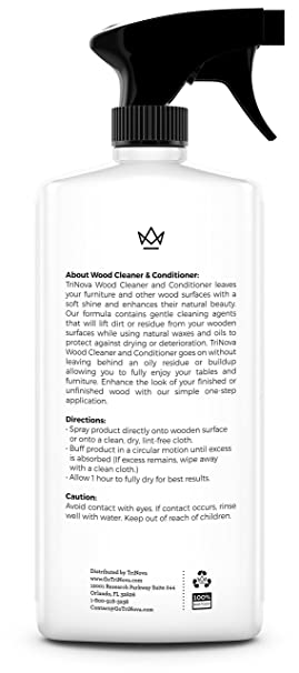 Amazon Wood Cleaner, Conditioner, Wax & Polish - Spray for Furniture &  Cabinets - Removes Stains & Restores Shine - Wax & Oil Polisher - Works on  ...