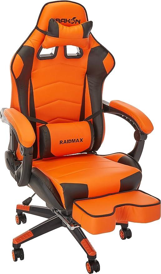 Drakon Raidmax 709 - Silla para videojuegos, color naranja: Amazon.es: Juguetes y juegos