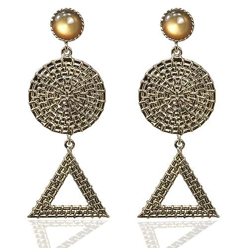 Earrings Nice Fashion Jewelry Statement Tassel Flower Vintage Long Women Bohemian Earrings Ethinic Gold Big Dangle Drop Earrings For Women 100% Original Back To Search Resultsjewelry & Accessories