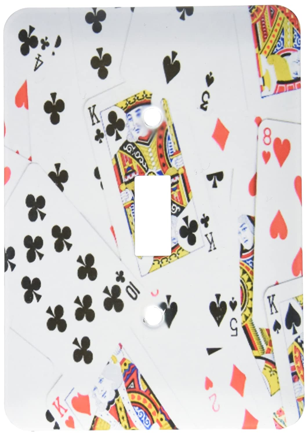 3dRose lsp/_112896/_1 Scattered Playing Photo-for Card Players Egg Poker Bridge Games Casino Las Vegas Night Single Toggle Switch Multicolored