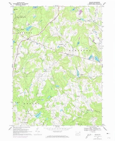 Amazon.com : YellowMaps Galilee PA topo map, 1:24000 Scale ... on