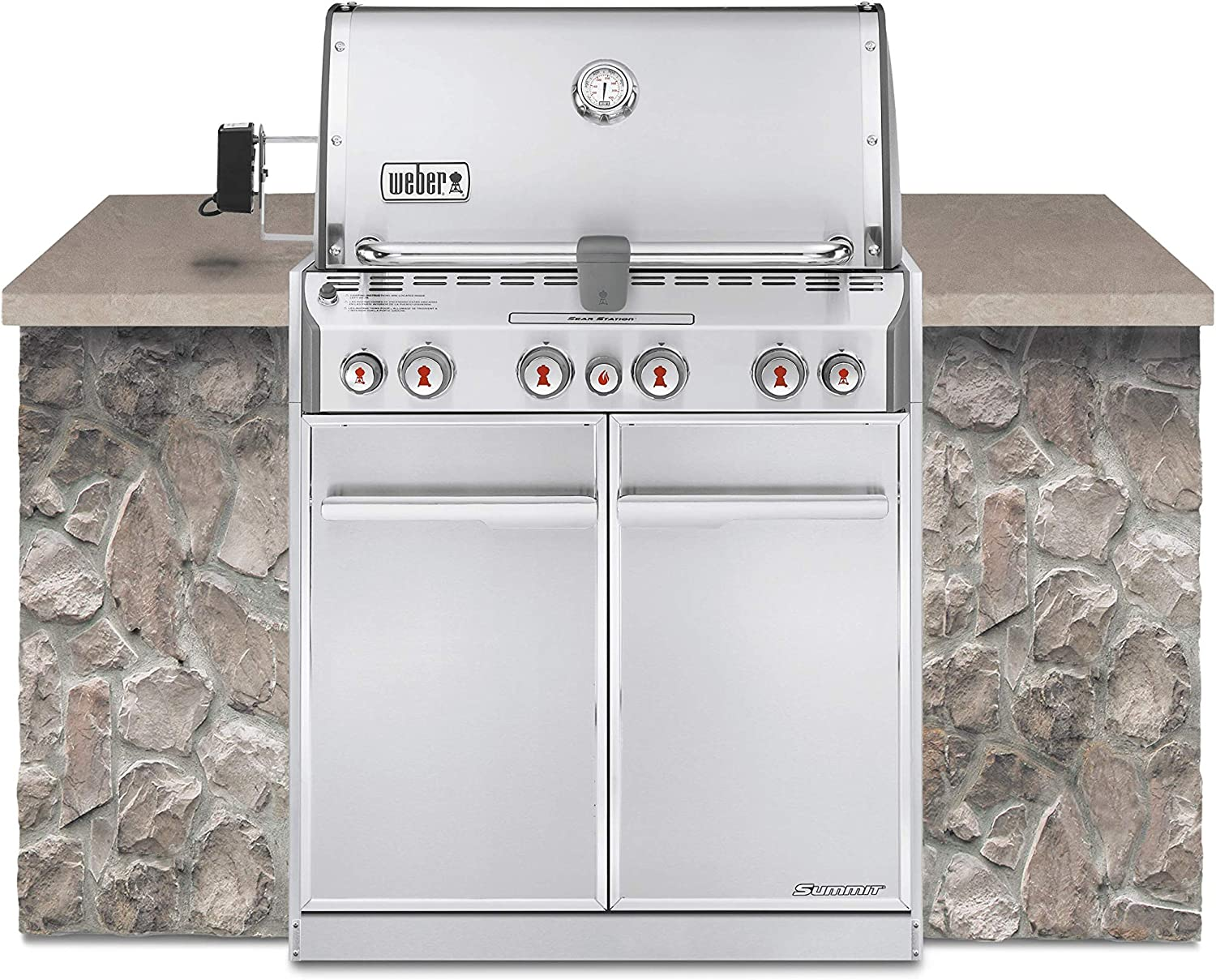 Weber Summit S-460 Built-In Natural Gas in Stainless Steel Grill