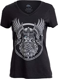 a7061a5ff3d1f Odin | Norse Mythology God Valkyrie Valhalla Viking Raven Thor Women Top  T-Shirt