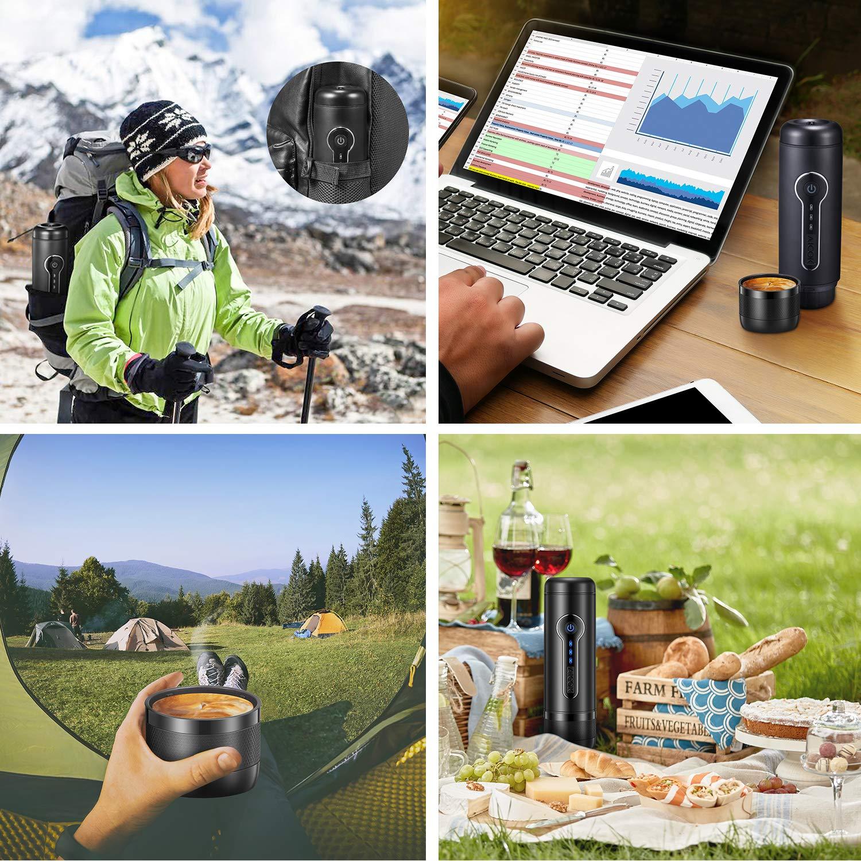 Amazon.com: Cafetera de viaje, máquina de café portátil ...