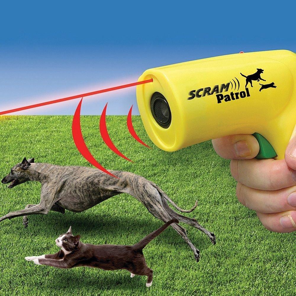 Scram Patrol Ultrasonic Dog Repeller Chaser Stop Barking Attack Animal Protecton by US Patrol