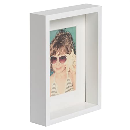 BD ART 6 x 8-Inch (15 x 21 cm) Box Picture Photo Frame with mount ...