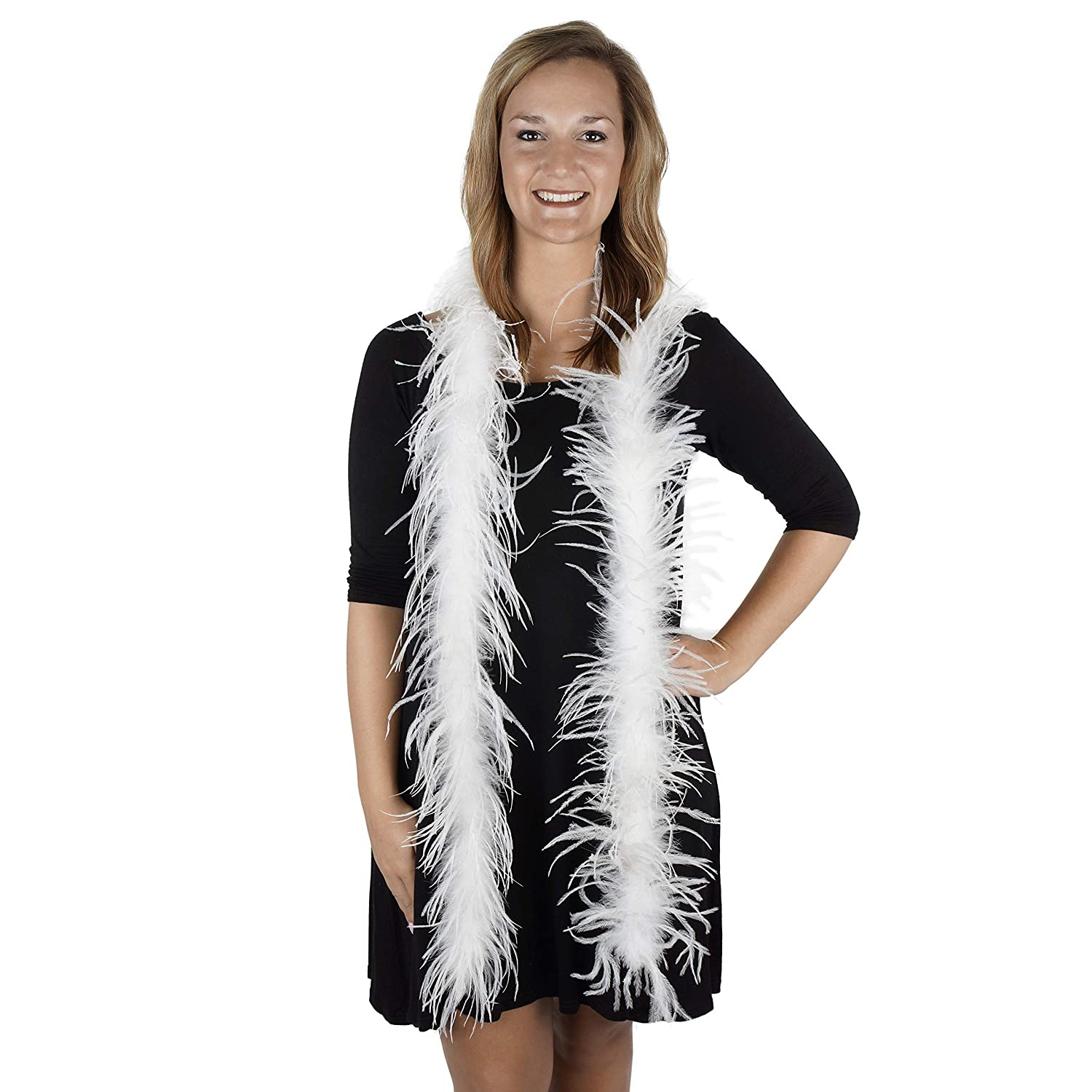ZUCKER Multi Color Chandelle Feather Boa 6 Foot Large Dress Up Party Costume Accessory