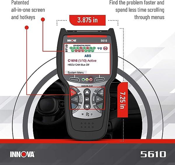 Compared to Innova CarScan Pro 5410, 5610 can support OBD1 diagnostics.