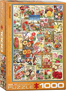 EuroGraphics Flowers Smithsonian Seed Catalogues (1000 Piece) Puzzle