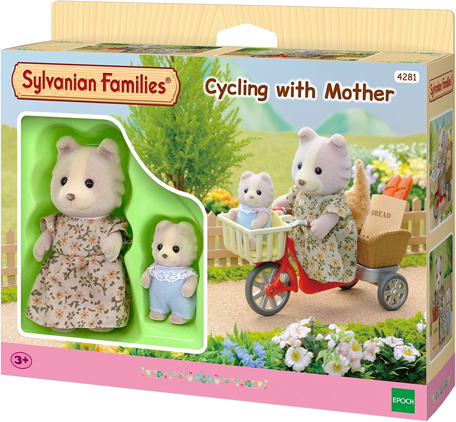 Cycling With Mother Sylvanian Families Free Shipping!