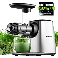 Masticating Juicer, Willsence Slow Juice Extractor, Nutrition Master Clod Press Juicer Machine with Reverse Function, Fruits and Vegetable Pulpfresh System with BPA Free Dishwasher Parts