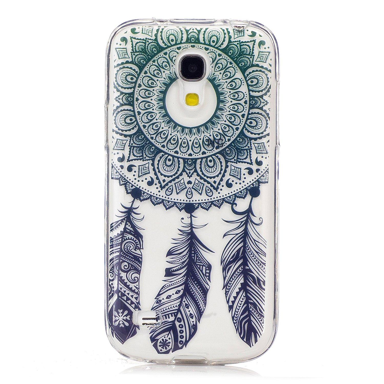 3e3349abf09 KaseHom Compatible For Funda Samsung Galaxy S4 Mini i9190 Slicona Cáscara  Cristal Claro Prima Transparente Choque Absorción Protección Caja Suave  Flexible ...