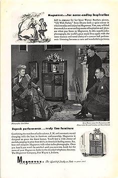 Amazon.com: Print Ad 1946 Magnavox Radio Phonograph: Home ...