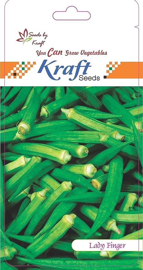 Kraft Seeds Lady Finger F1 Hybrid Seeds (3 gm, Pack of 5)
