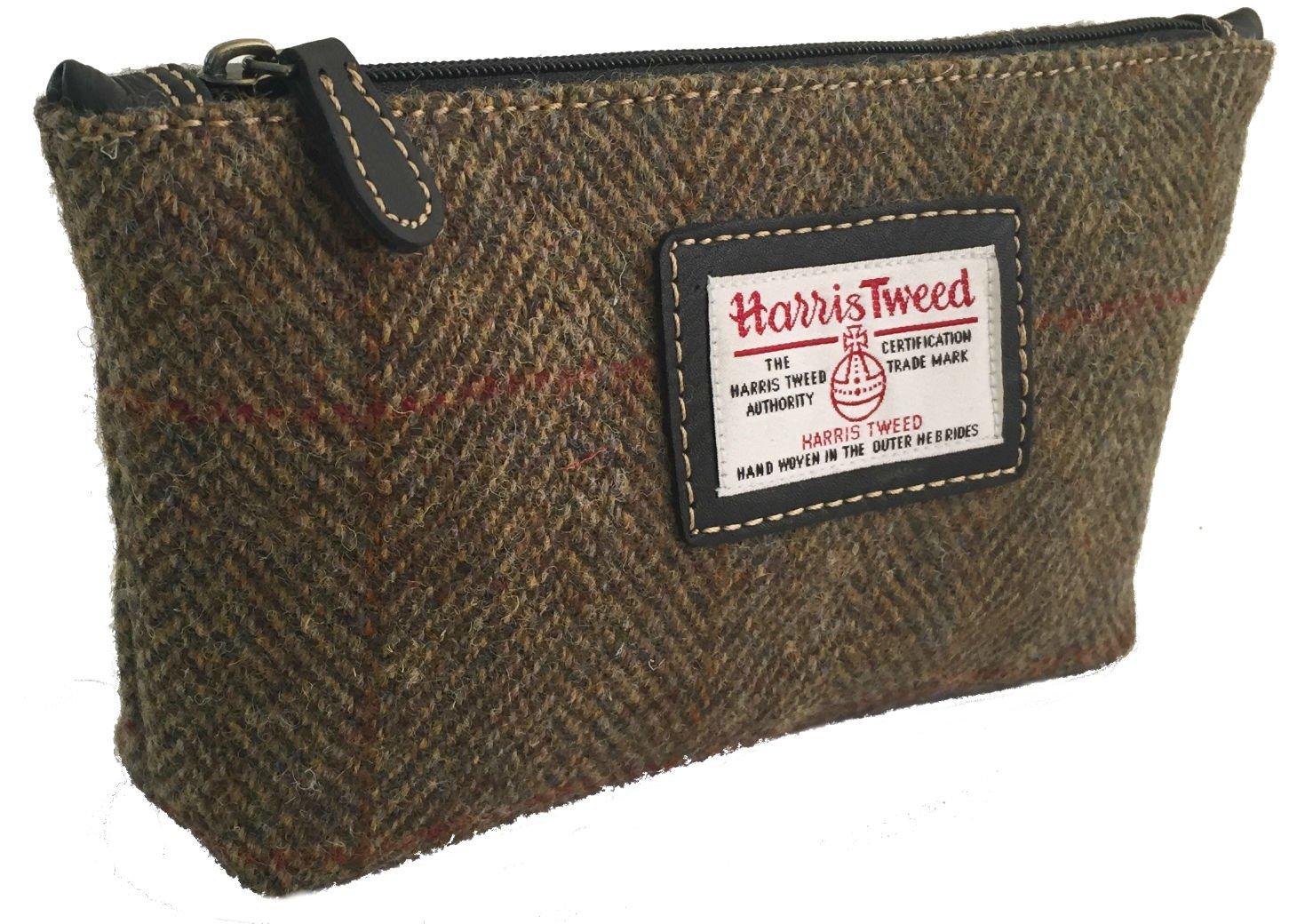 Signore Harris Tweed Sacchetto cosmetico in una scelta di colori e design (Rosa)