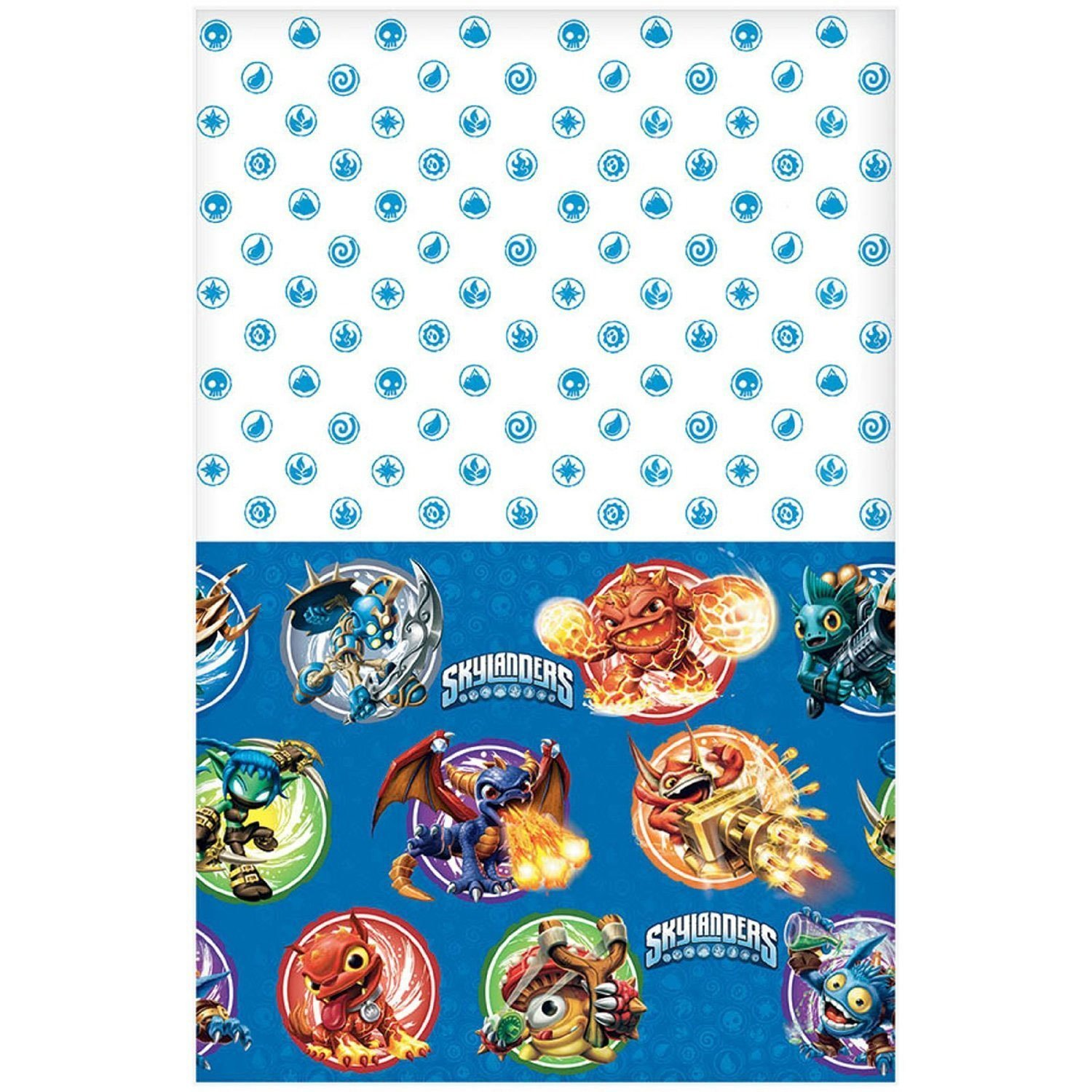 Amscan Swashbuckling Skylanders Birthday Party Plastic Table Cover Tableware Decoration (1 Piece), 54'' x 96'', Blue