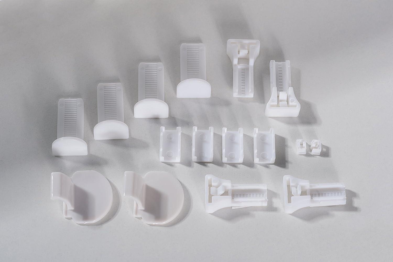 K-home Klemmfix-Plissee  80 x 210 cm (B x L) L) L) Grau Lichtschutz +++ Moderne Crushed Optik +++ B01MR6M5IW Plissees 9092a7