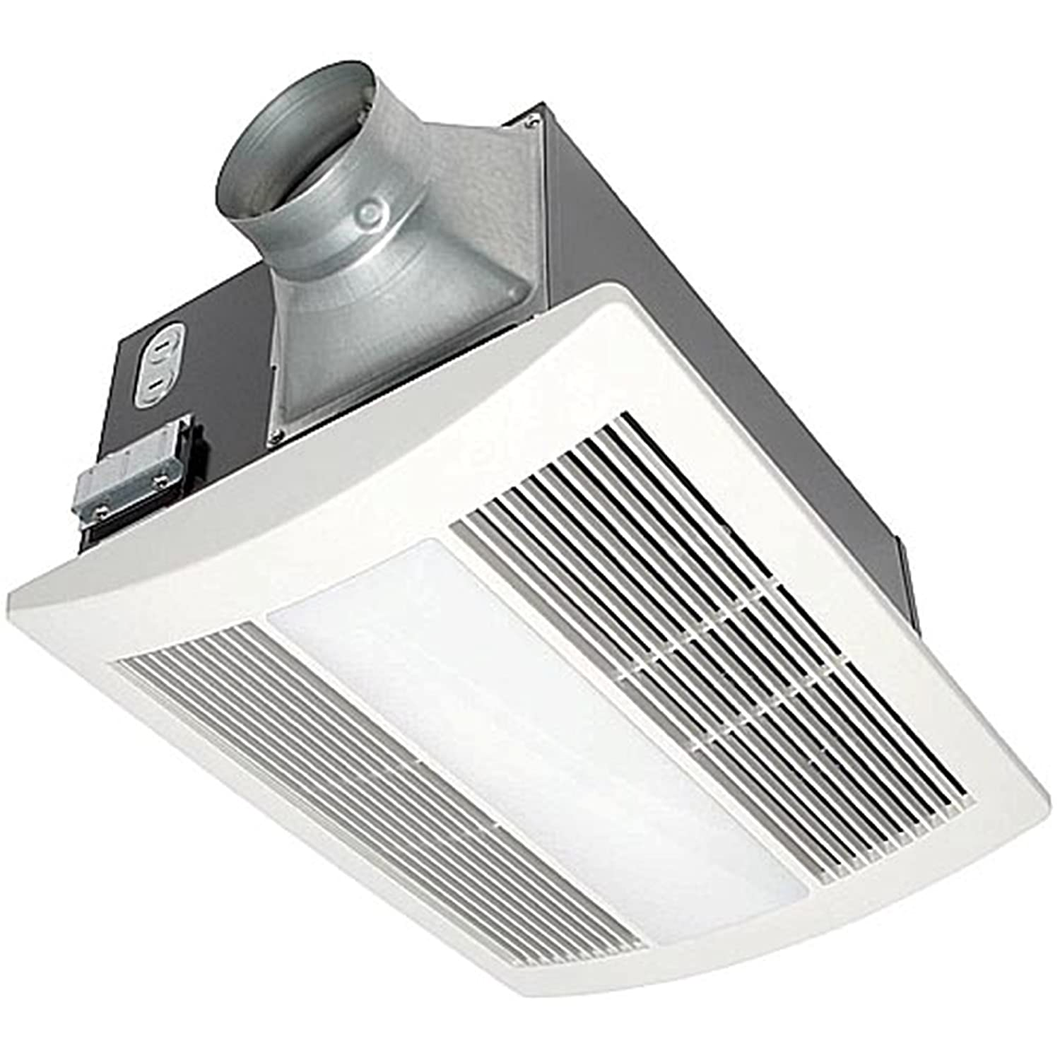 Panasonic Fv 11vh2 Whisper Warm 110 Cfm Ceiling Mounted Fan Heat Common Permanently Electric Space Heater Combination White Cream Heaters