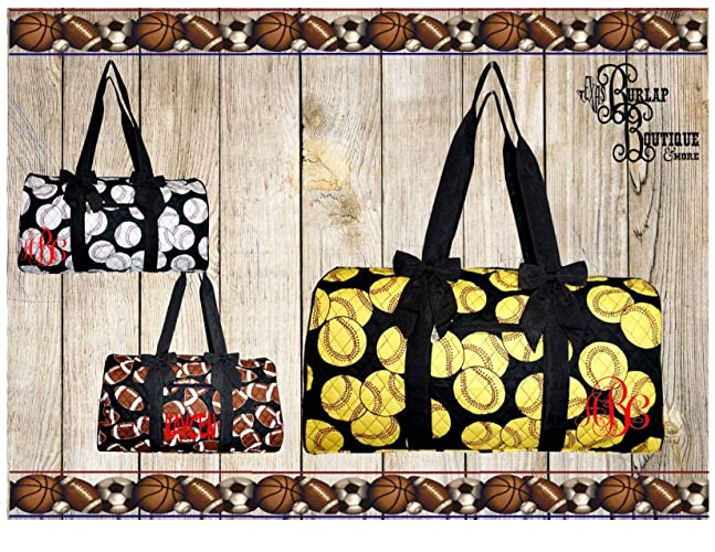 3f544f59a55d Amazon.com: FREE Personalization ~ Monogrammed Sports Duffle bag ...