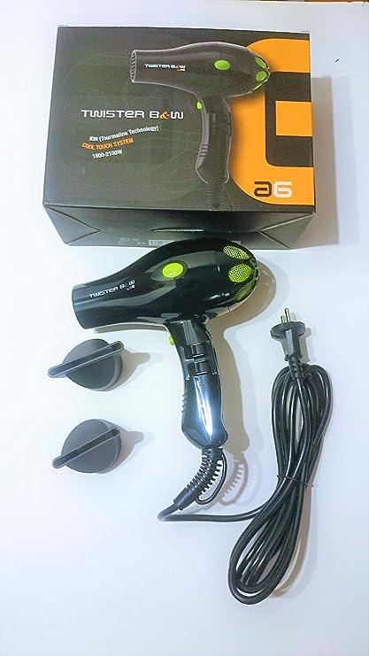 AG Secador B&W 2100W Negro/Verde