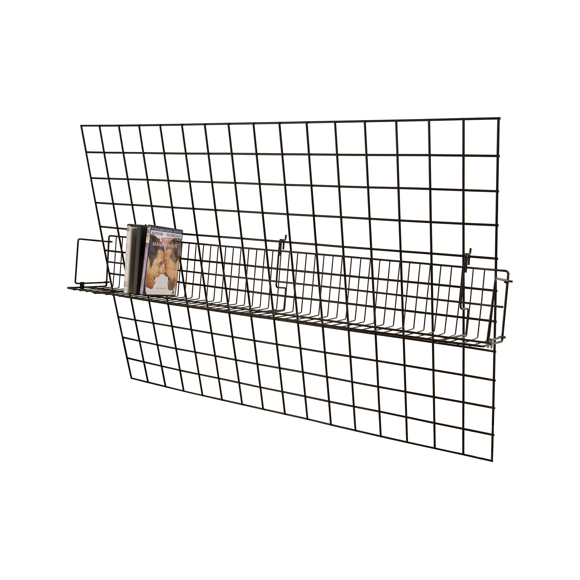 ExecuSystems 48'' Wide Video Shelf for Slatwall, Gridwall or Pegboard - Box of 6 by Unknown (Image #3)
