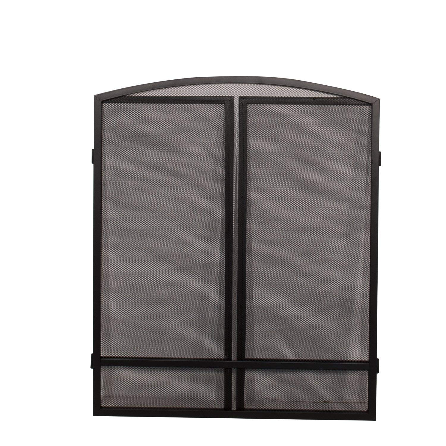 Panacea Products 15951 3-Panel Arch Screen with Double Bar for Fireplace (Limited Edition) Panacea Products.