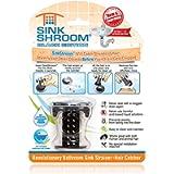 SinkShroom Chrome Edition Revolutionary Bathroom Sink Drain Protector Hair Catcher, Strainer, Snare, Black