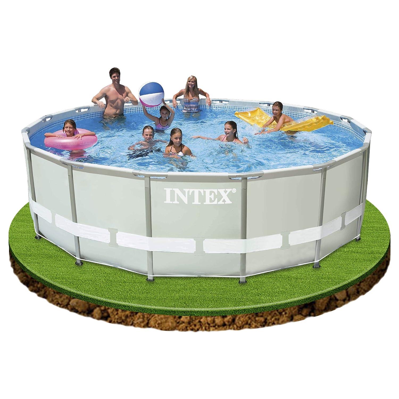 Intex Ultra Frame - Piscina Desmontable, 549 x 132 cm, con depuradora y complementos (28332NP): Amazon.es: Jardín