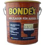 Bondex 731 - Barniz para madera de exterior (4 L), color nogal